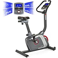 Preisvergleich für Premium Hammer Ergometer Heimtrainer Ergo Motion BT, APP Steuerung für Smartphone, Bluetooth Anbindung, 22 Trainingsprogramme, 12 Bergprofile und Talprofile, 4 Herzprogramme, LCD Colour Display, Push and Turn Drehknopf, Fahrrad Trainer, Fitnessbike
