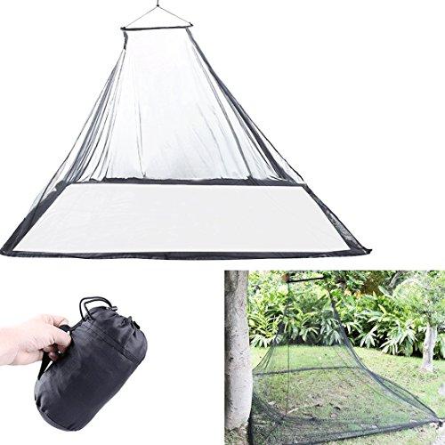 Magarrow Outdoors Moskitonetz für Doppelbett Leichtes Moskitonetze Wandern Camping Klettern Leichtgewicht mit Tragetasche (Schwarz)