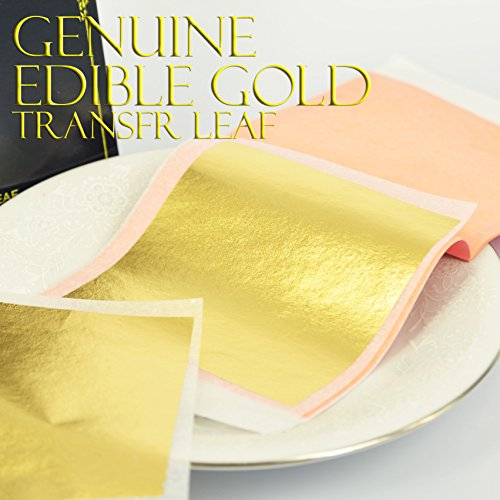 Gold Leaf 23,75 K, 10 Blatt, 80 mm Transfer E -