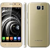 "Landvo S7 - Smartphone libre Android (Pantalla 5.0"", 16GB ROM, 1GB RAM, Quad-Core 1.3GHz, Camara 5.0 Mp, Dual SIM, GPS, WIFI), Dorado"