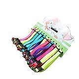 Jamisonme-Katzen-Hundehalsband-personalisierter justierbarer bunter Regenbogen mit Bell 12 Farben-Katzenhalsband (12PCS / Pack) personalisiert