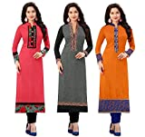 Today Best Offer New Collection Fancy And Party Wear Printed Kurti For Women New Designer Multi_Colored Cotton (Semi_Stiched) Kurti In Low Price