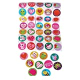 5 Rolls ~ Valentine Stickers ~ 100 Stickers Per Roll ~ 500 Stickers Total ~ Approx. 1.5 ~ New / Shrink-wrapped ~ Hearts, Animals, More by Rhode Island Novelty