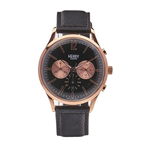 Henry London - Bracciale unisex orologio Richmond Cronografo quarzo pelle hl41 CS - 0042