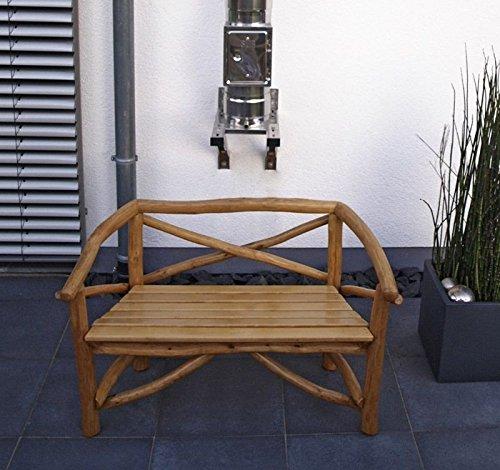 Gartenbank 2-Sitzer 130x70x76cm Coburg Knüppelholz Buche Eiche