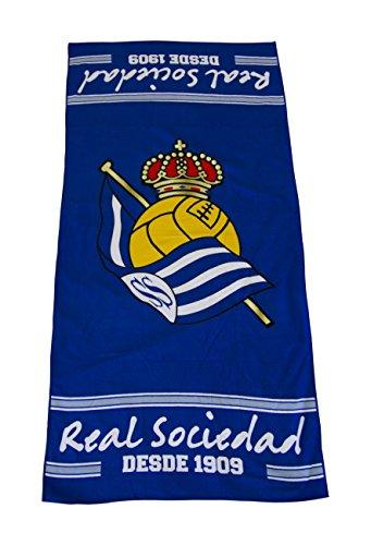Real Sociedad Toarso Toalla Azul Blanco Talla nica