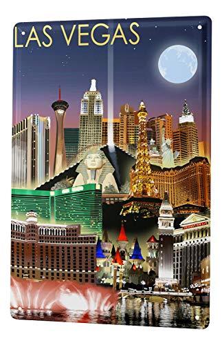 Blechschild Stadt Las Vegas USA (Las Vegas Sign Poster)