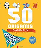 50 origamis d'animaux : Chats, grenouilles, lapins...