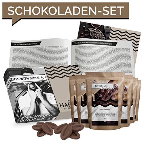 Schokolade Geschenkset 7 Schokolade aus aller Welt Geschenkbox | Weltreise Geschenkidee Schoko Geschenkset für Frauen Männer | Schokoladen Box Geburtstag Weihnachten - 7'7 Schokolade