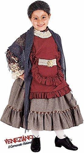 n Super Deluxe alt Damen Oma Halloween Karneval Kostüm Verkleidung Outfit 3-10 Jahre - 6 years (10 Jahr Altes Mädchen Halloween Kostüme)