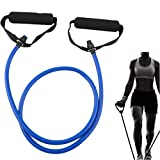 Resistance Band Exercise Cords with Door Attachment Chest Expander Color Random 120cm