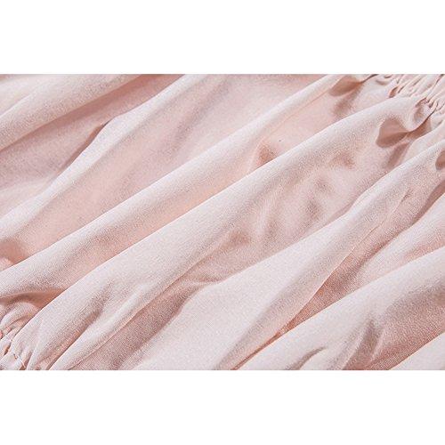 Chemise Court Pour Femme Sexy hors de LÉpaule sans Bretelles Slim Crop Tops Mode Couleur Unie Blouse Casual Shirts Chemisier Crop Tops Pour Printemps Été Rose/Noir/Blanc Rose