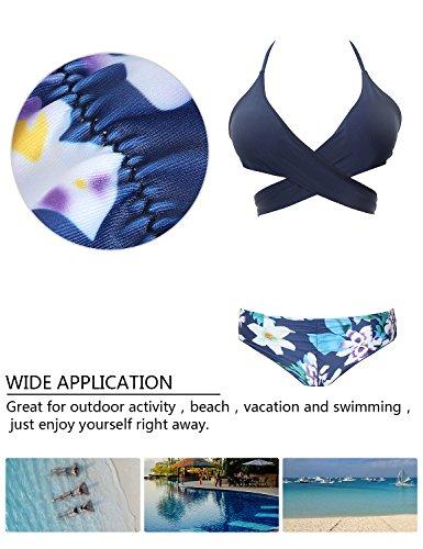 MinYuocom Donne Costumi Interi Bassiera Coordinati Balza Bikini Costume Da Bagno MZF4607 7024U