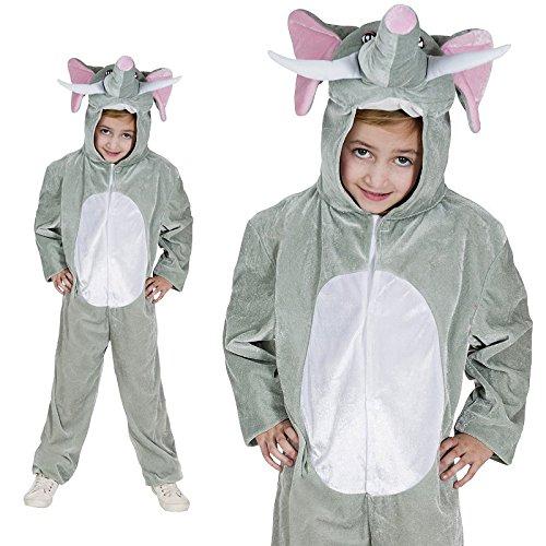 Rüssel Tier Kinderkostüm Einteiler Elefantenkostüm (Zirkus Affe Kostüm)