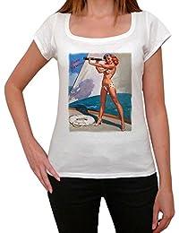 Pin-up spendid view, tee shirt femme, imprimé célébrité,Blanc, t shirt femme,cadeau