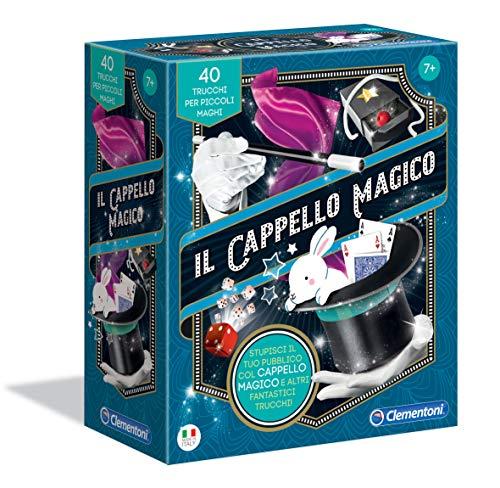 Clementoni-16184- Juego de Mesa con Gorro mágico, Juego de Magia, Multicolor, 16184