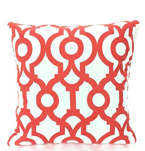 Lyon-set Bett (Alicert5II Orange White Kissenbez¨¹ge dekorative Kissen Kissenbez¨¹ge Orange wei? geometrische Lyon Lava Couch Bett 18 x 18)