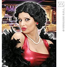 Ladies Short Black Wig Betty Boop Charleston Flapper 40S Fancy Dress (peluca)