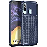 Golden Sand Compatible with Samsung Galaxy M40 Back Cover Case Aramid Carbon Fibre Shockproof TPU Blue -Ultimate Protection from Drop in Slim Profile