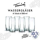 Saftgläser, Longdrink-Gläser, Glaser für Wasser, Schorle, Smoothies, Set mit 6 Stück je 350ml Inhalt, mit dickem Boden