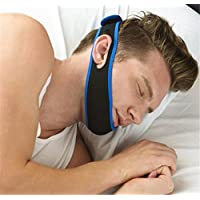 RENZE Stop Schnarchen Anti Schnarchen Lösung, einstellbare Snore Relief Kinnriemen (Blau) preisvergleich bei billige-tabletten.eu