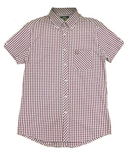 trojan-records-camisa-casual-para-hombre-rojo-rojo-maroon-medium