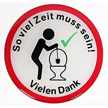 Bike Label Fun-Aufkleber 3D 900050 Klopapier WC Witz