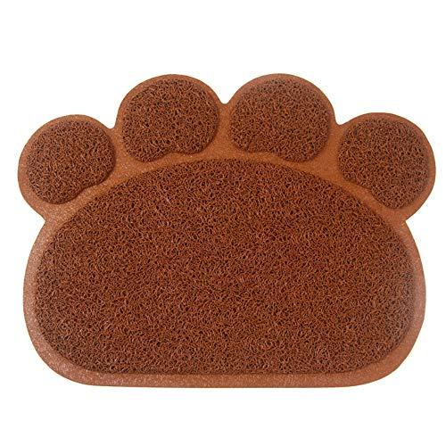 Vidillo Alfombrilla para Comederos de Perros y Gatos, Bandeja Gato Antideslizante y Impermeable para Mascota Tapete para Comer de Mascotas Alfombra Piso