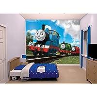 "Walltastic ""Thomas and Friends"" Wallpaper Mural, Paper, 8 x 10 ft"