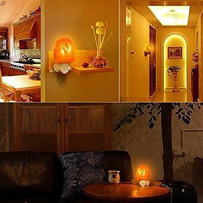 Luxus Himalayan Salz Lampe, OverDose LED Hand geschnitzte natürliche Glühen Hymalain Salz Lampe Salzlampe Kristall Lampe Leuchtmittel Bosalla Nachttischlampe stimmungslicht nachtleuchte 600G/220V,2.5-15W