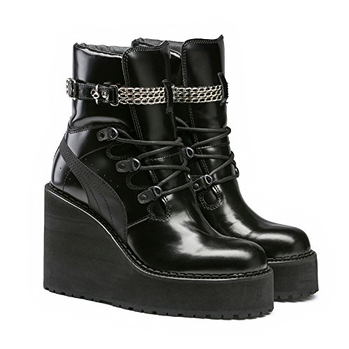 800b35cfacc2 PUMA Fenty By RIHANNA Adult s Sneaker Boot Wedge (363039 01) (Puma Black