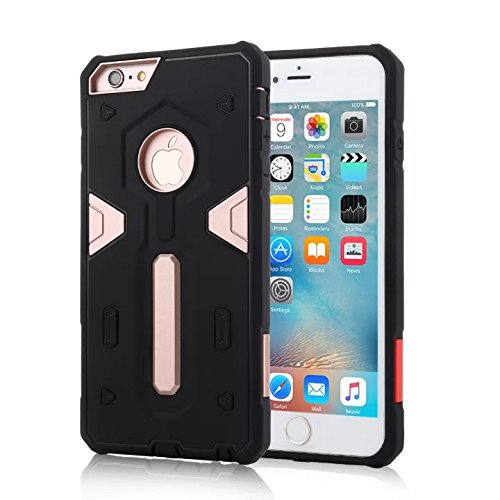 YHUISEN IPhone 6/6S Fall, 2 In 1 PC + TPU Dual Layer Armor Hybrid Schutz Schock Absorption Hard Back Cover Case für iPhone 6 / 6S ( Color : Blue ) Rose Gold