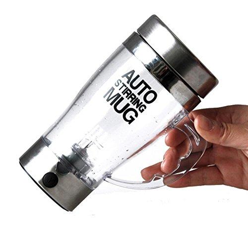 Preisvergleich Produktbild U Selbst Rühren Glas Becher Transparent - Self Stirring Coffee Lazy Mug Tragbare Mehrzweck Mixer Auto mischen Kaffee Tee Tasse Protein Shaker Doppel isoliert elektrische perfekte,  as picture,  A