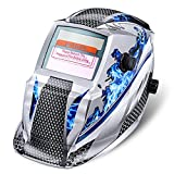 Casco de Soldadura,NASUM Casco Solar-Alimentado de Soldadura de Oscurecimiento Automático Máscara de Soldadores para MIG/TIG/MMA (Azul)