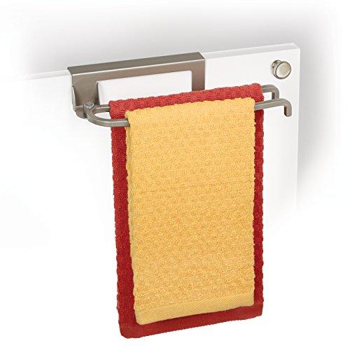 Lynk über Schrank Tür schwenkbarer Handtuchhalter-Satin Nickel -