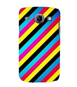 Multicoloured Slanting Lines Pattern 3D Hard Polycarbonate Designer Back Case Cover for Samsung Galaxy Core i8262 :: Samsung Galaxy Core i8260