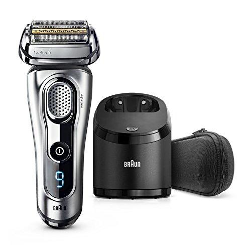 Braun Series9Elektrischer Rasierer 9290cc, mit Reinigungsstation Clean&Charge und Reise-Etui, silber