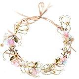 Braut Kopfschmuck, Fascigirl Blumen Kopfschmuck Handgemachte Vintage KüNstliche Perlen Brautjungfer Hochzeit ZubehöR
