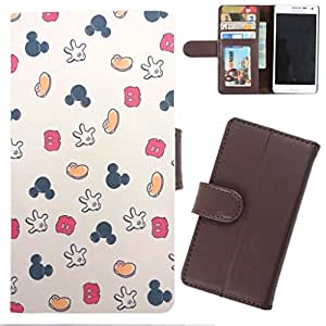 DooDa - For Micromax Canvas Power A96 PU Leather Designer Fashionable Fancy Wallet Flip Case Cover Pouch With Card, ID & Cash Slots And Smooth Inner Velvet With Strong Magnetic Lock
