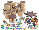 Bastelset Trommel - Bastelmaterial für 12 Kinder-Trommeln im Set