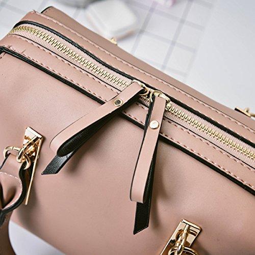ZPFME Frauen Umhängetaschen Herbst Und Winter Umhängetasche Retro Handtaschen Pink