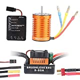 Accessori, attrezzi e strumenti Modellismo e costruzione Crazepony-UK 3660 3800KV Sensorless Brushless Motore Outrunner Motor and 80A ESC Electronic Speed Control 5mm Shaft Splashproof for 1/10 1:10 RC Racing Car Off-Road Truck Vehicle by