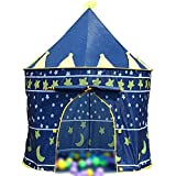 FANGCHE Kinder Schloss Zelt Indoor Spiel Falten Baby Crawler Haus, blue