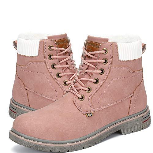 Botas de Nieve Mujer Antideslizante Invierno Botines Calientes Trekking Aire Libre Zapatos Hombre Rosa...