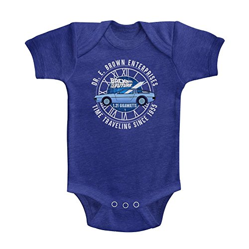 Back To The Future - Unisexe-Bébé Dr E Brown Entreprises Onesie, 24M, Vintage Royal