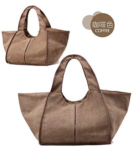 6c3f281f62e00 Foluton Damen Hobo Bags Schultertasche Canvas Tote bags Handtasche Shopper  Tasche Leinwand Umhängetasche Shoulder Bags Shopping