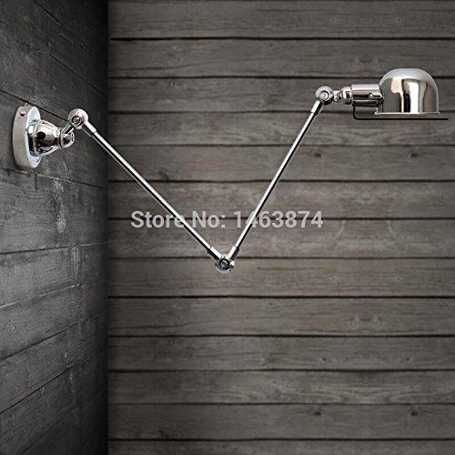 Französische Designer-Lampen-Dachboden-Balkon-kontinentaler amerikanischer industrieller Retro- kreativer Trompeten-mechanischer Arm-Wandlampe, weiß -