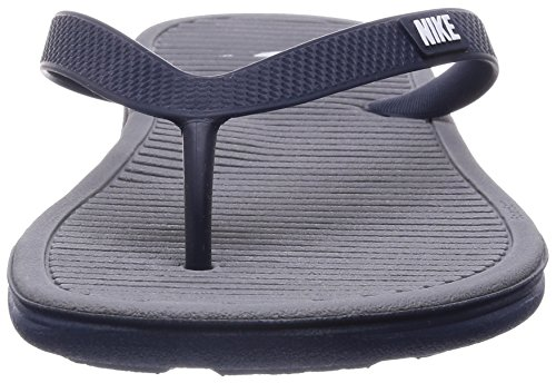 Nike Herren Solarsoft Thong 2 Turnschuhe, Grau, 46 EU Blau / Weiß / Grau (Midnight Navy / White-Cool Grey)