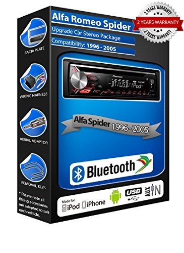 ALFA ROMEO SPIDER Pioneer deh-4700bt Auto Stereo, USB CD MP3AUX IN BLUETOOTH-Kit - Stereo-spider Auto