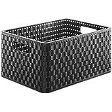 Sundis A4negro Country cesta plástico negro 36,8x 27,8x 19,1cm